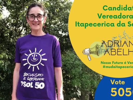 Agora é pra valer! Adriana Abelhão, 50505 é candidata a vereadora em Itapecerica da Serra