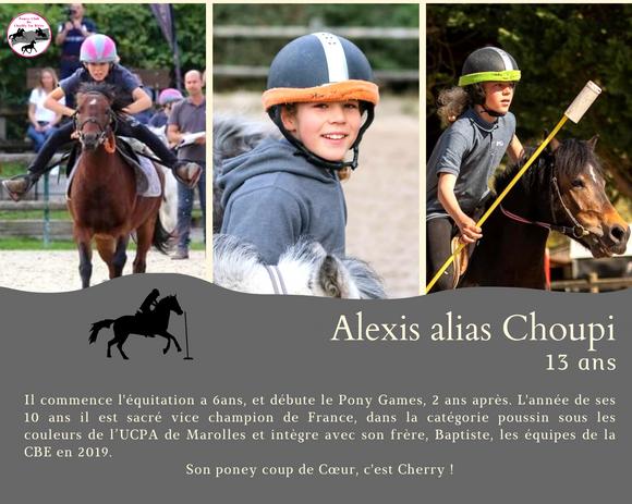 Alexis 13 ans cavalier de pony games