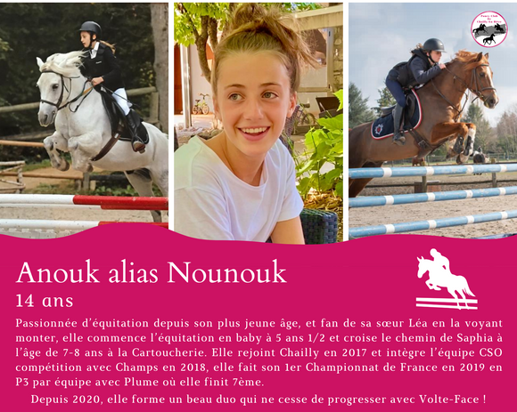 Anouk 14 ans cavalier de CSO