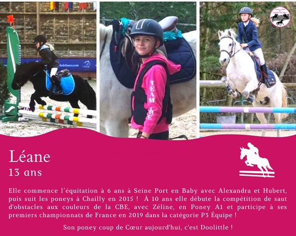 Léane 13 ans cavalier de CSO