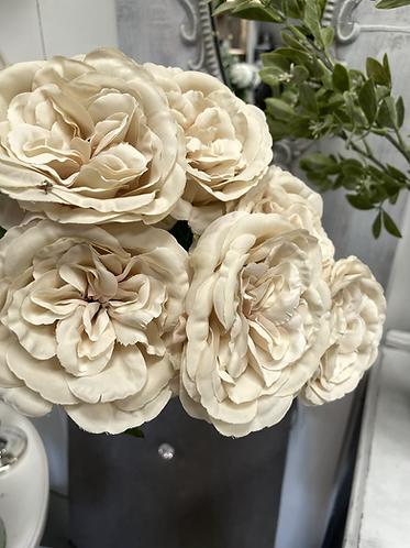 Silk pale cream rose