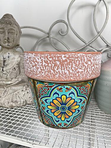 Multi coloured Plant pot
