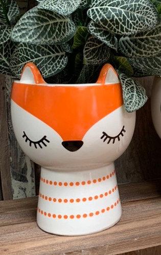 Fox head plant pot