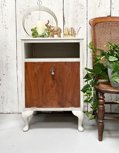 Vintage cupboard with pull down door