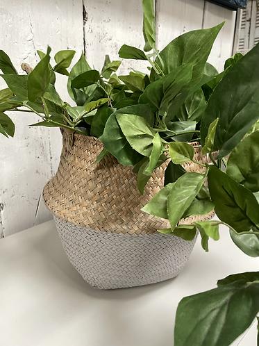 Grey bottom Sea grass basket - Large