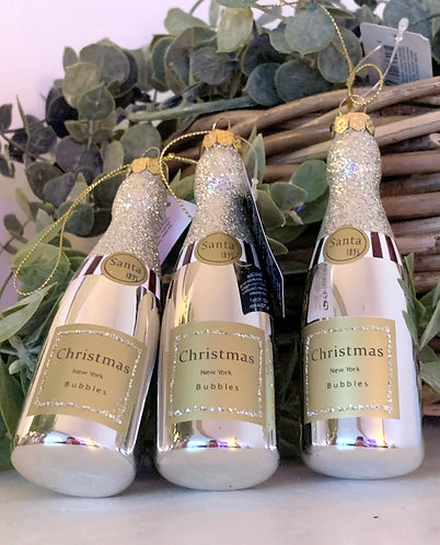 Champagne bottle Christmas decoration