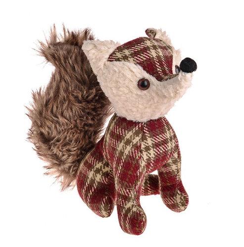 Traditional tartan fox