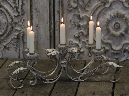 French style candlestick for five candles