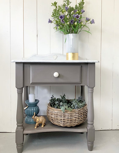 Pine console table with drawer