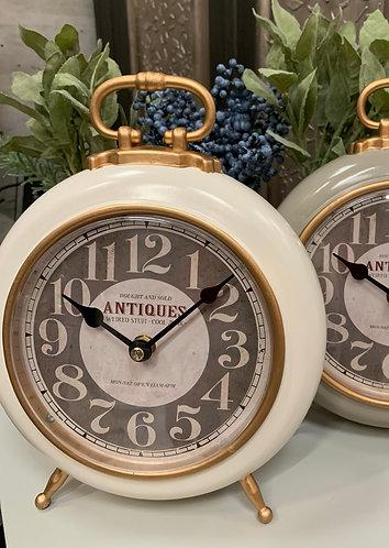 Cream mantel clock