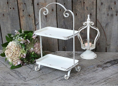 Antiqued 'Etagere' - 2 tier stand