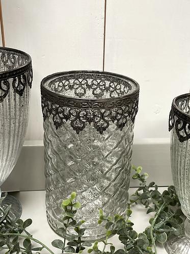 Mercury glass decorative vase - large