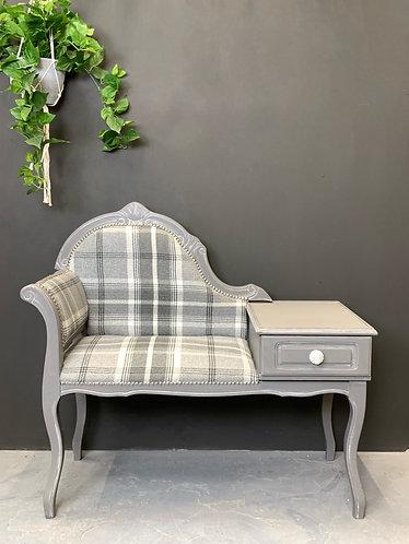 Elegant grey hallway seat