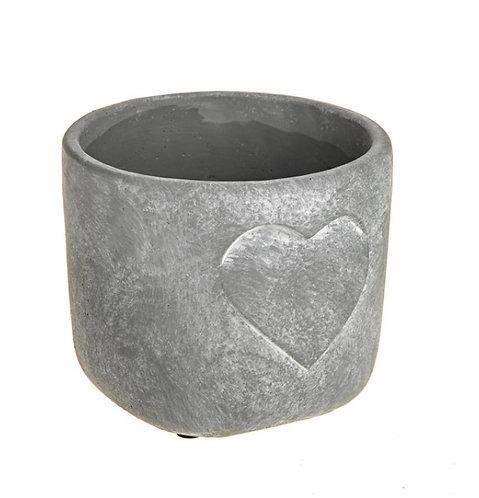 Heart cement pot