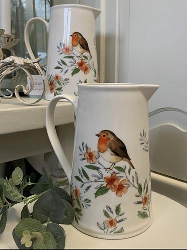 Ceramic Robin Jug