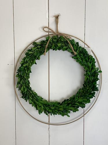 Artificial foliage circle & copper wreath