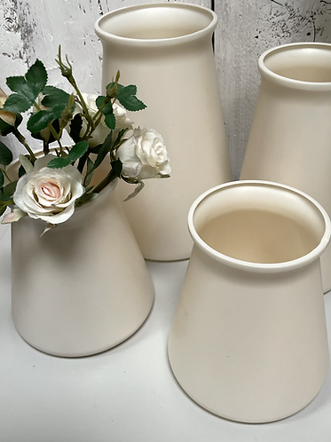 RECYCLED Vase in Pearl - small