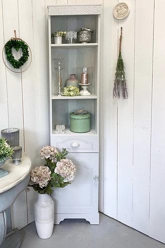 Pale grey Corner cabinet