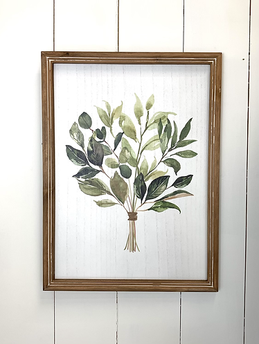Picture & frame - green foliage