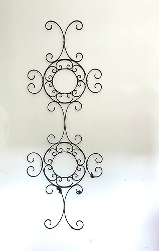 Unique wrought iron wall decoration