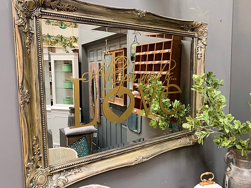 ALL YOU NEED IS LOVE ornate mirror