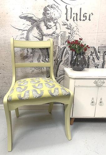 Bird print chair