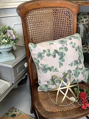 Eucalyptus cushion cover & cushion
