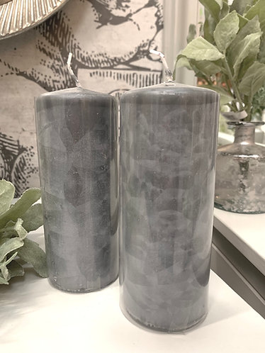 Pillar candle - dark grey