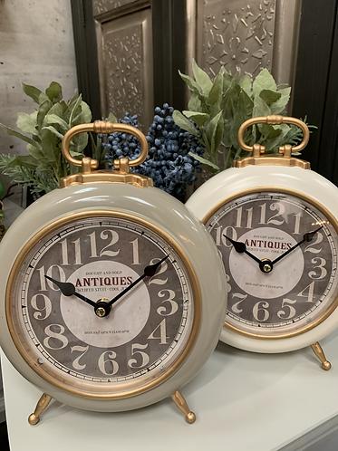 Grey mantel clock