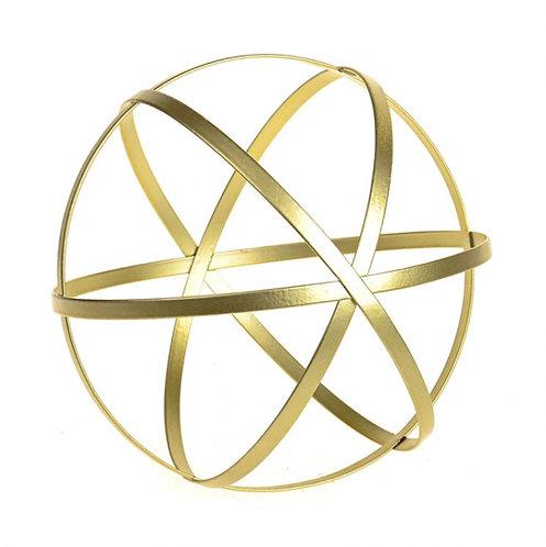 Golden metal ball