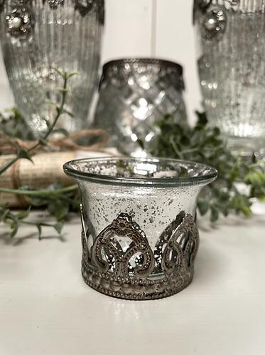Mercury glass decorative tea light holder