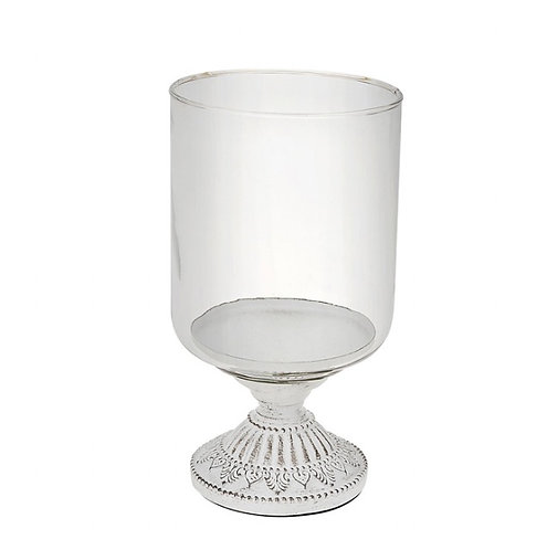 Daisy white candle holder - small