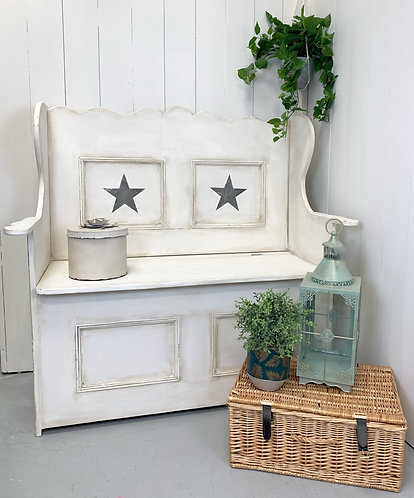 Pine Monks Bench with storage