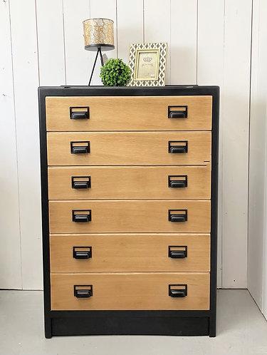 Six drawer Tall Boy Drawers