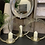 Thumbnail: Set of 3 gold circle candle holders