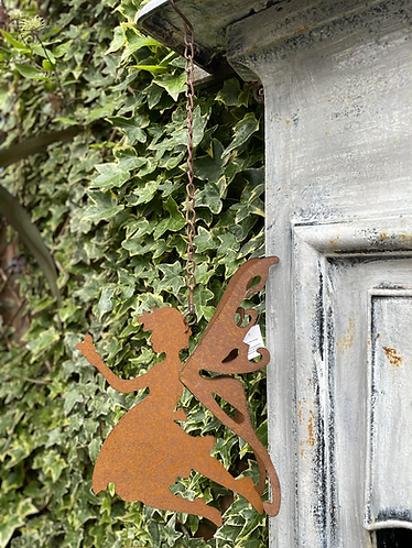 Rustic hanging fairy
