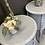 Thumbnail: Round grey French style cabinets - PAIR