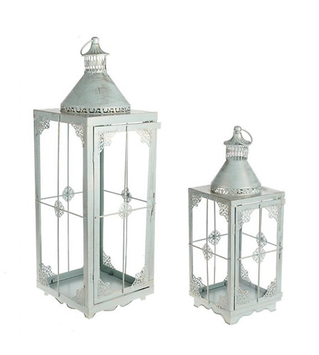 Extra Large lantern, pale green & gold