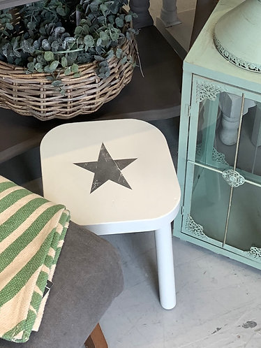 Small stool with star