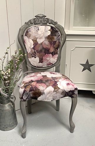 Floral Velvet Occasional Chair