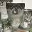 Thumbnail: Mercury glass goblet decorative vase - medium