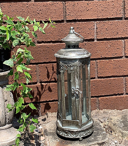 Marrakesh antique silver lantern