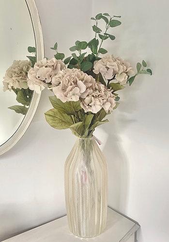 Feather design glass vase - large