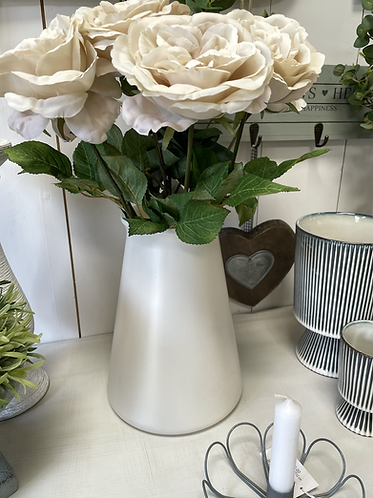 RECYCLED Vase in Pearl - large