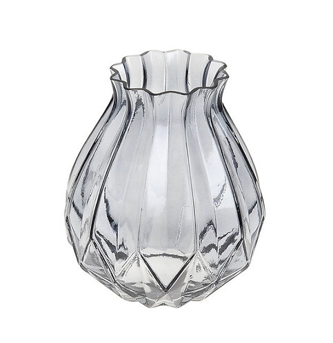 Bouquet grey glass vase