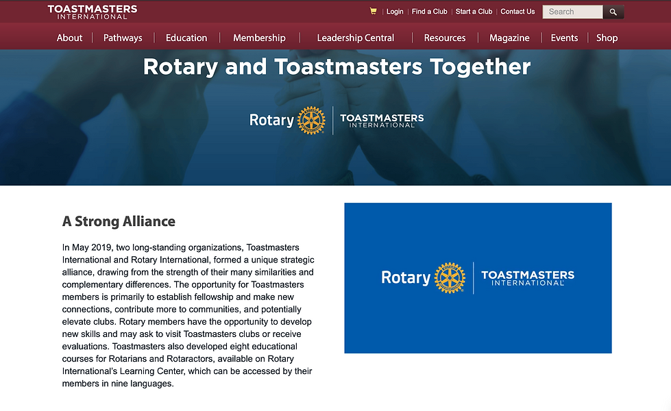 Rotary and Toastmasters Together