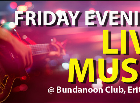 Starting this Friday - Friday Night Music is Back