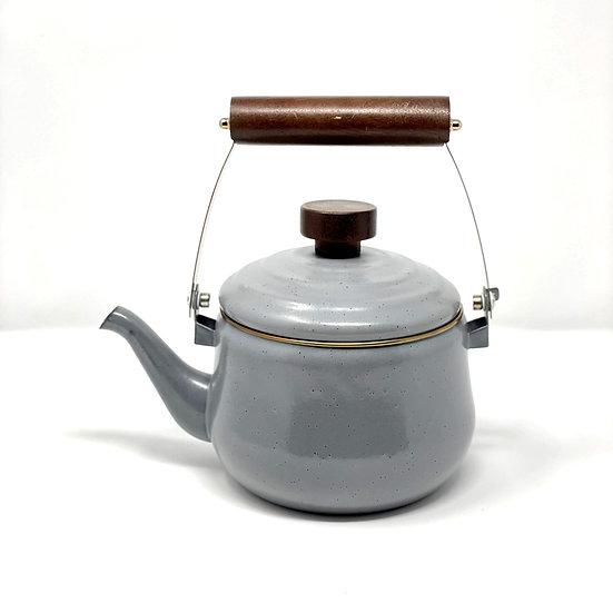 Grey Enamel Teapot