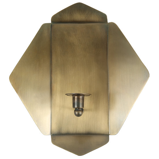 Brass Plated Wall Sconce