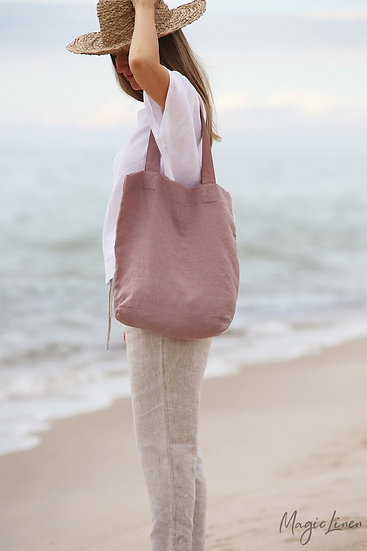 Large Linen Tote